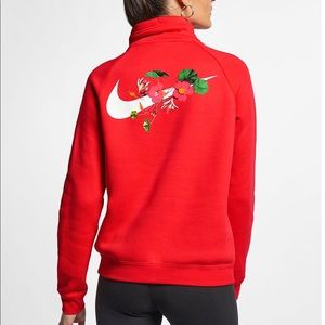 Nike Femme Rally Half Zip Pullover Sweater Floral